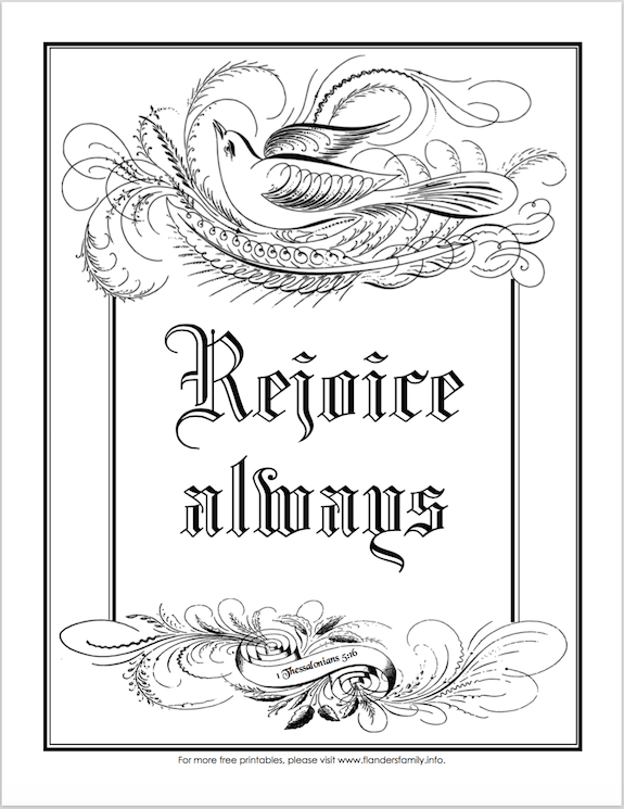 printable coloring pages websites rejoice always coloring page the flanders family website printable websites coloring pages