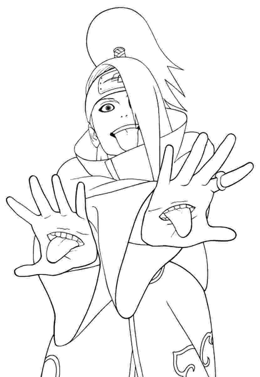 printable coloring pictures naruto coloring pages pictures coloring printable
