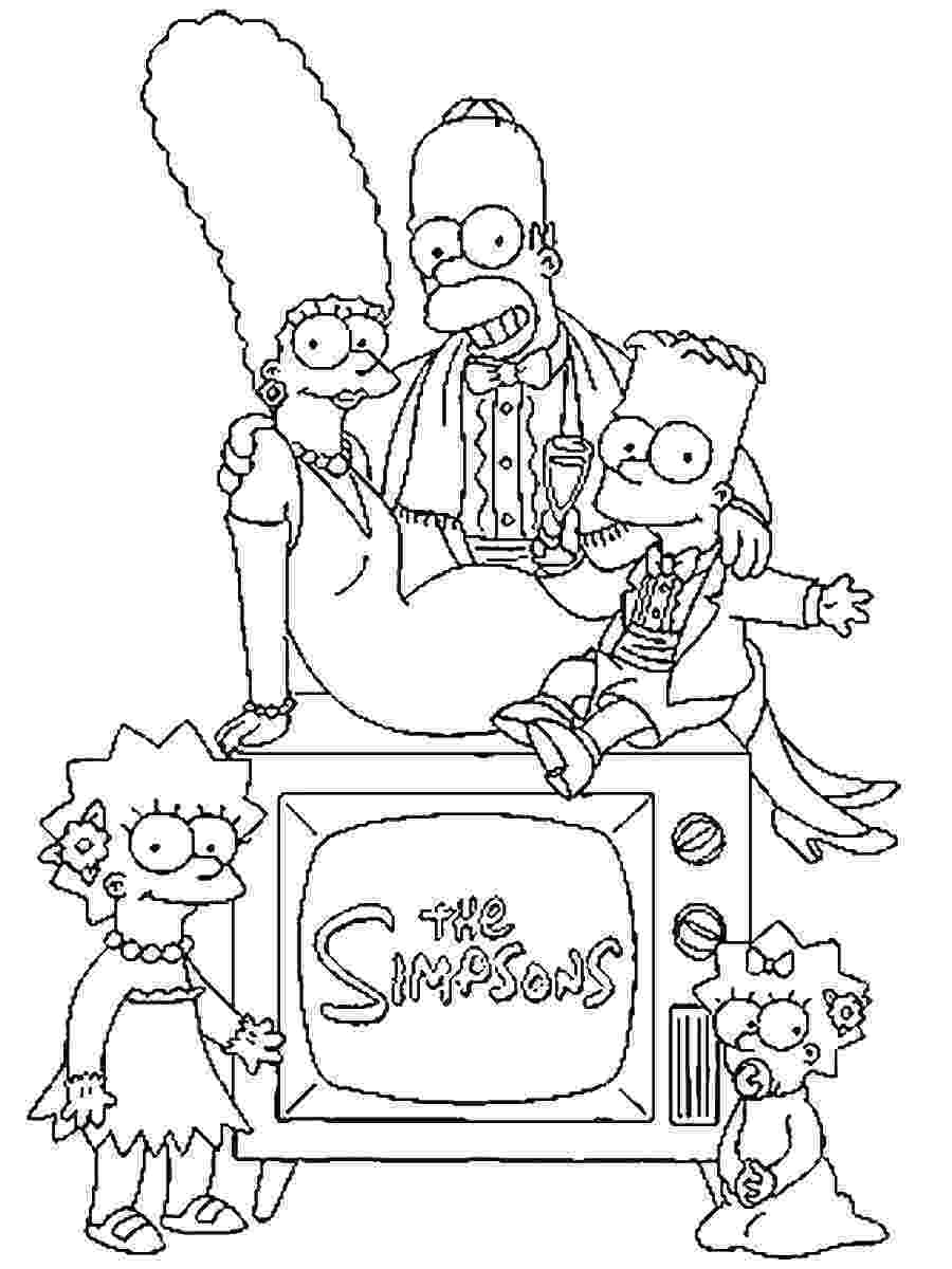 printable coloring pictures the simpsons coloring pages printable pictures coloring