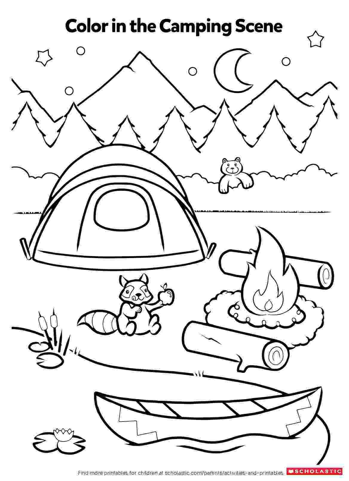 printable coloring sheets preschoolers campfire coloring activity worksheets printables sheets preschoolers printable coloring
