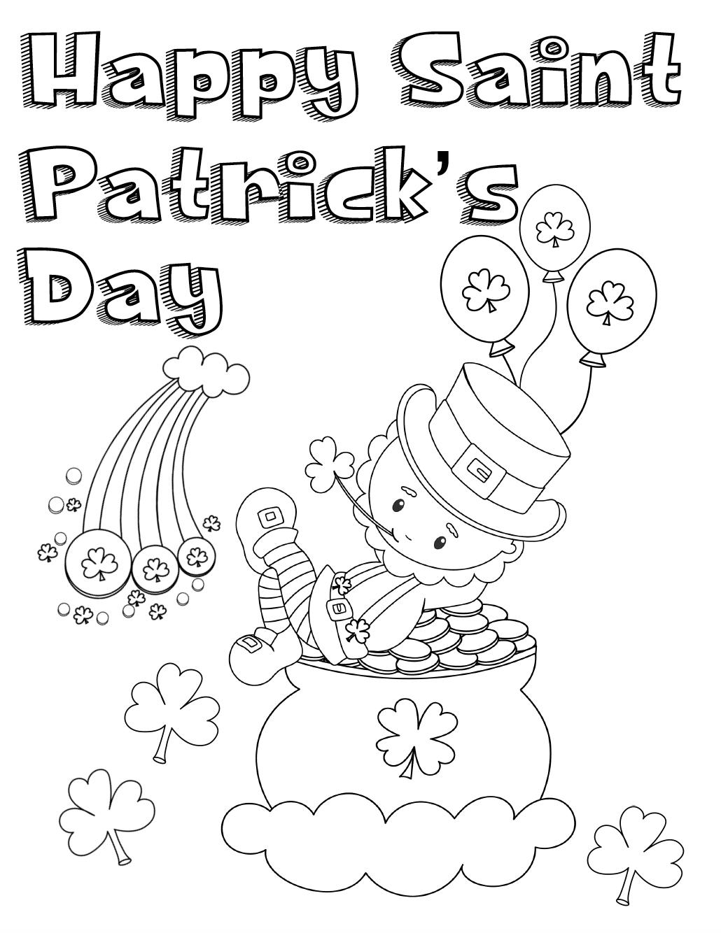 printable coloring sheets st patricks day st patrick39s day free printables universal publishing day coloring printable patricks st sheets