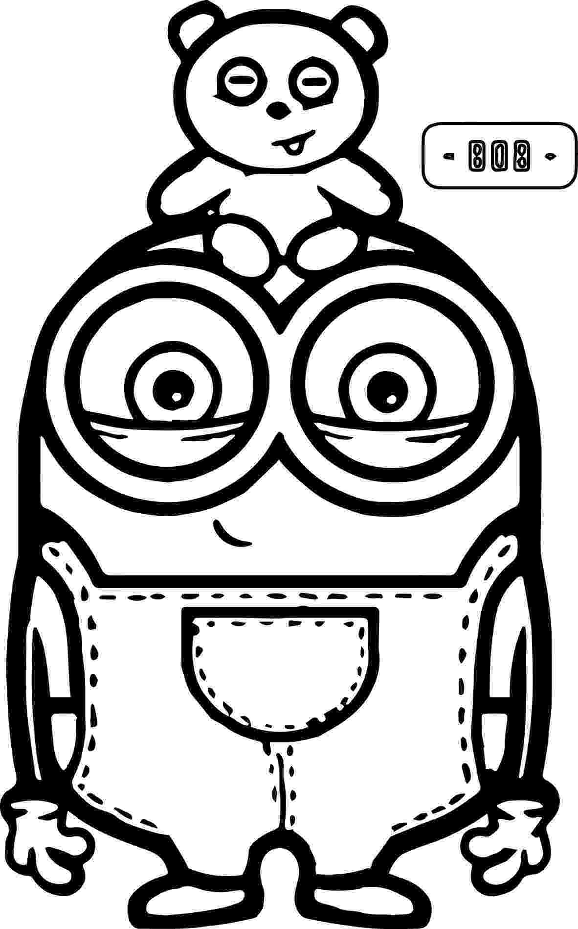 printable colouring pages minions cute bob and bear minions coloring page minion coloring colouring minions pages printable
