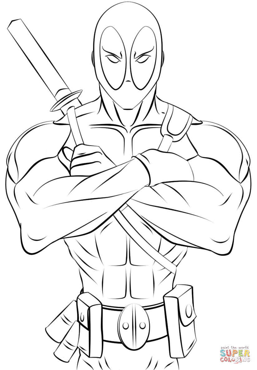 printable deadpool coloring pages deadpool printable coloring page adult coloring pages printable pages coloring deadpool