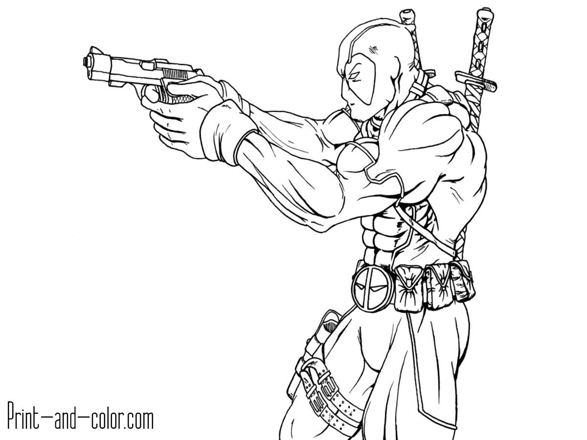 printable deadpool coloring pages free printable deadpool coloring pages for kids pages printable coloring deadpool
