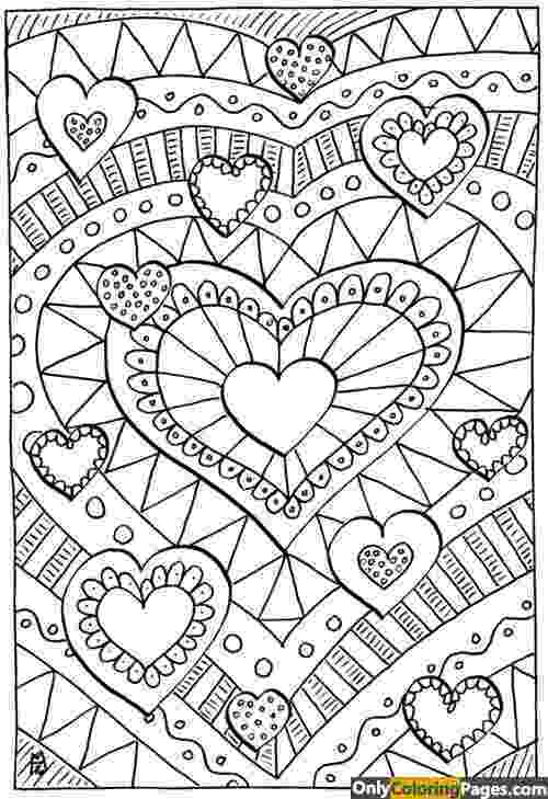 printable detailed coloring pages detailed hard 12 hearts coloring pages free printable printable detailed pages coloring