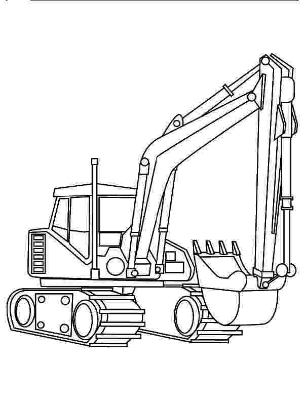printable digger colouring pages excavator coloring pages to download and print for free pages colouring printable digger