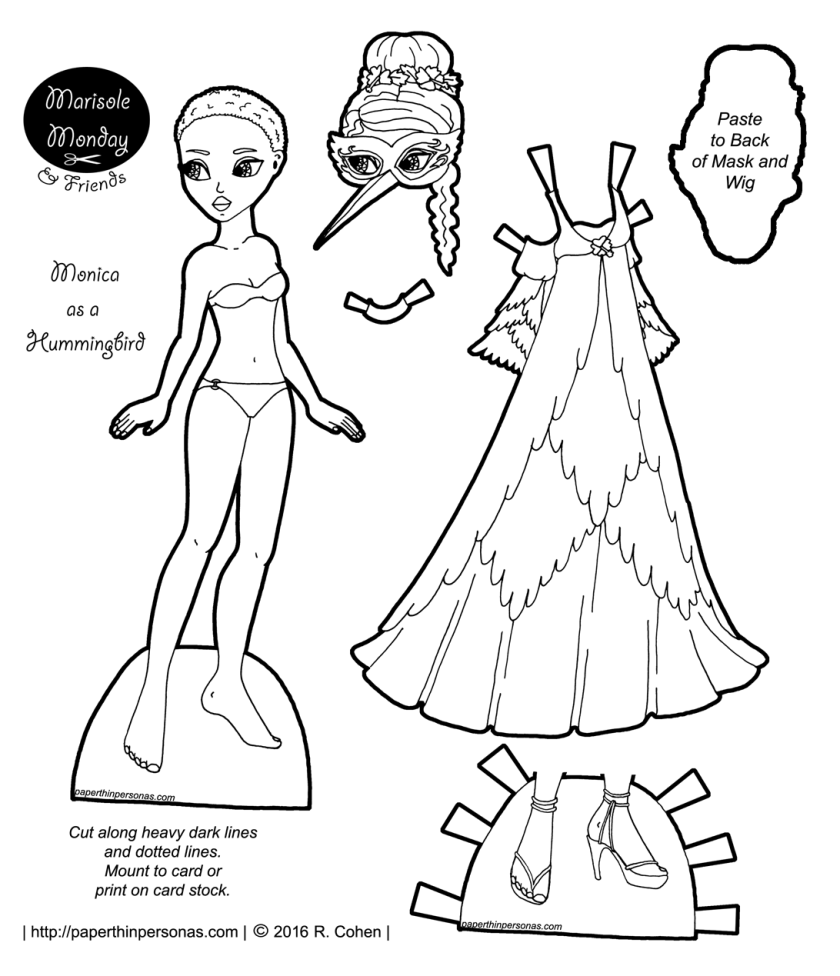 printable dress up dolls monica archives paper thin personas dolls printable up dress