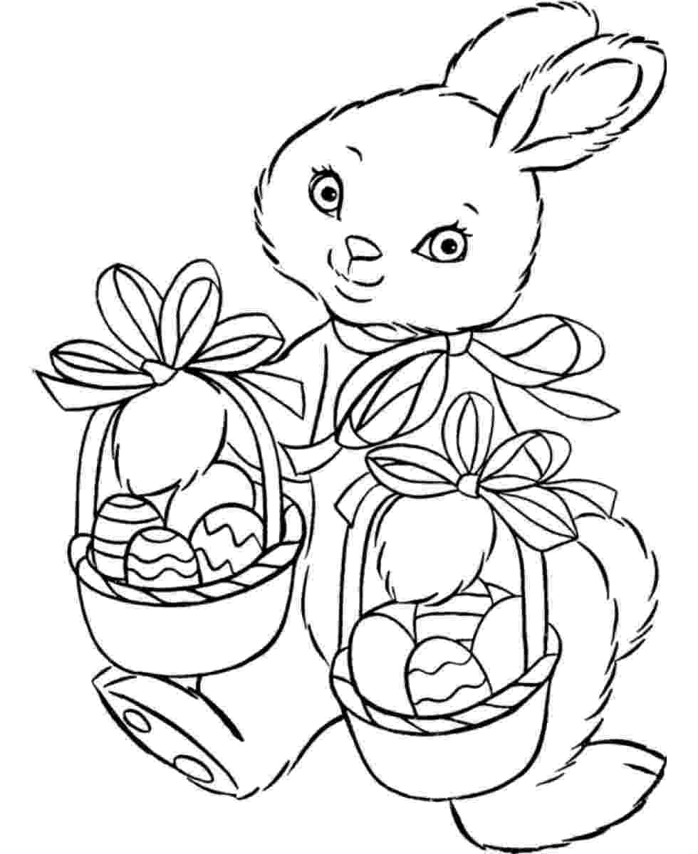 printable easter bunny easter bunny coloring pages 360coloringpages easter printable bunny 1 1