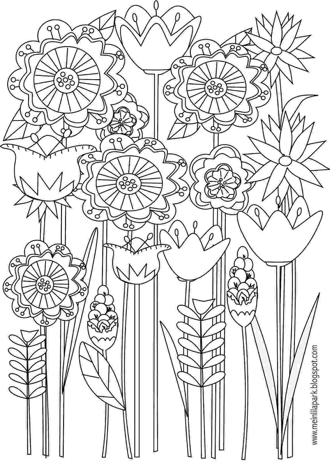 printable flower coloring pages for adults butterflies and bees adult coloring page favecraftscom pages coloring for flower adults printable