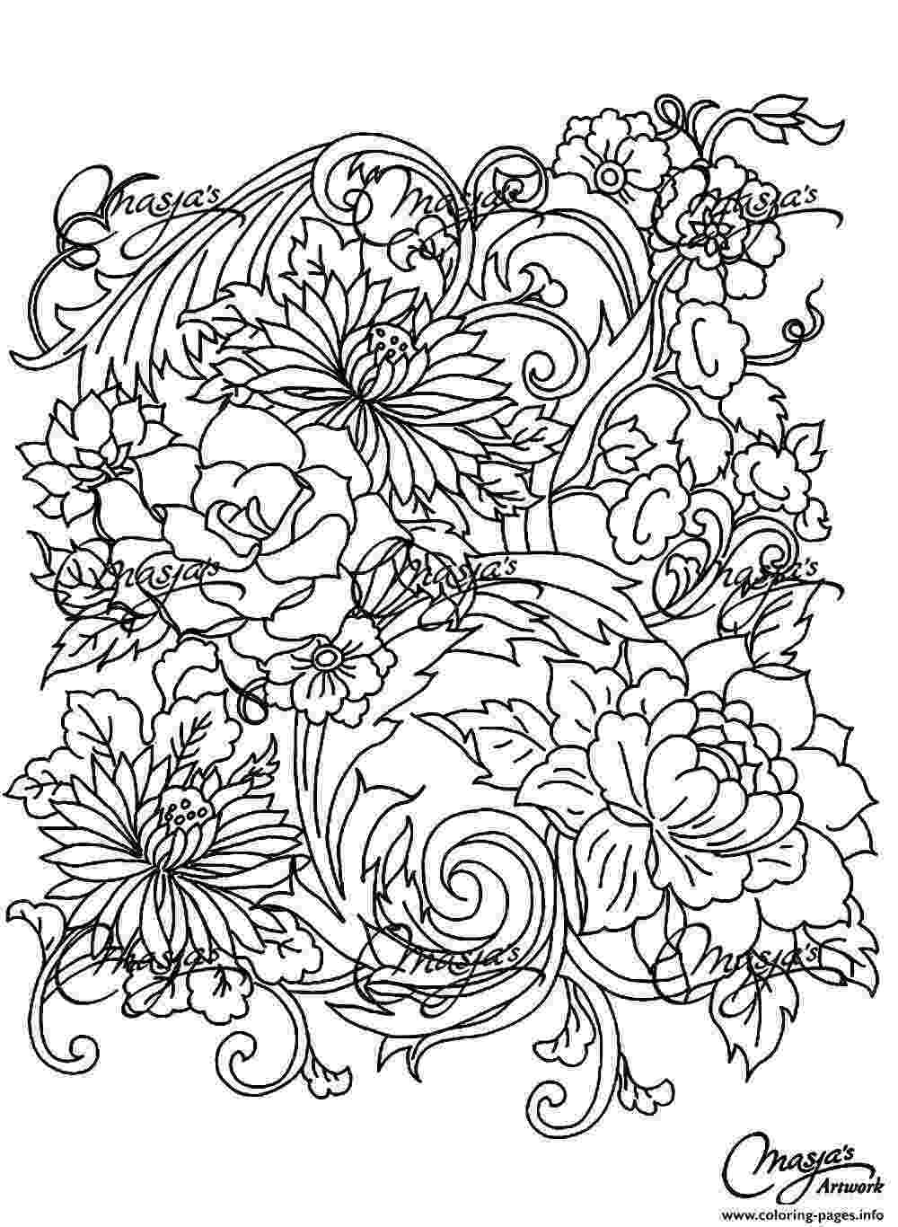 printable flower coloring pages for adults butterflies on flowers coloring page free printable printable pages for adults coloring flower