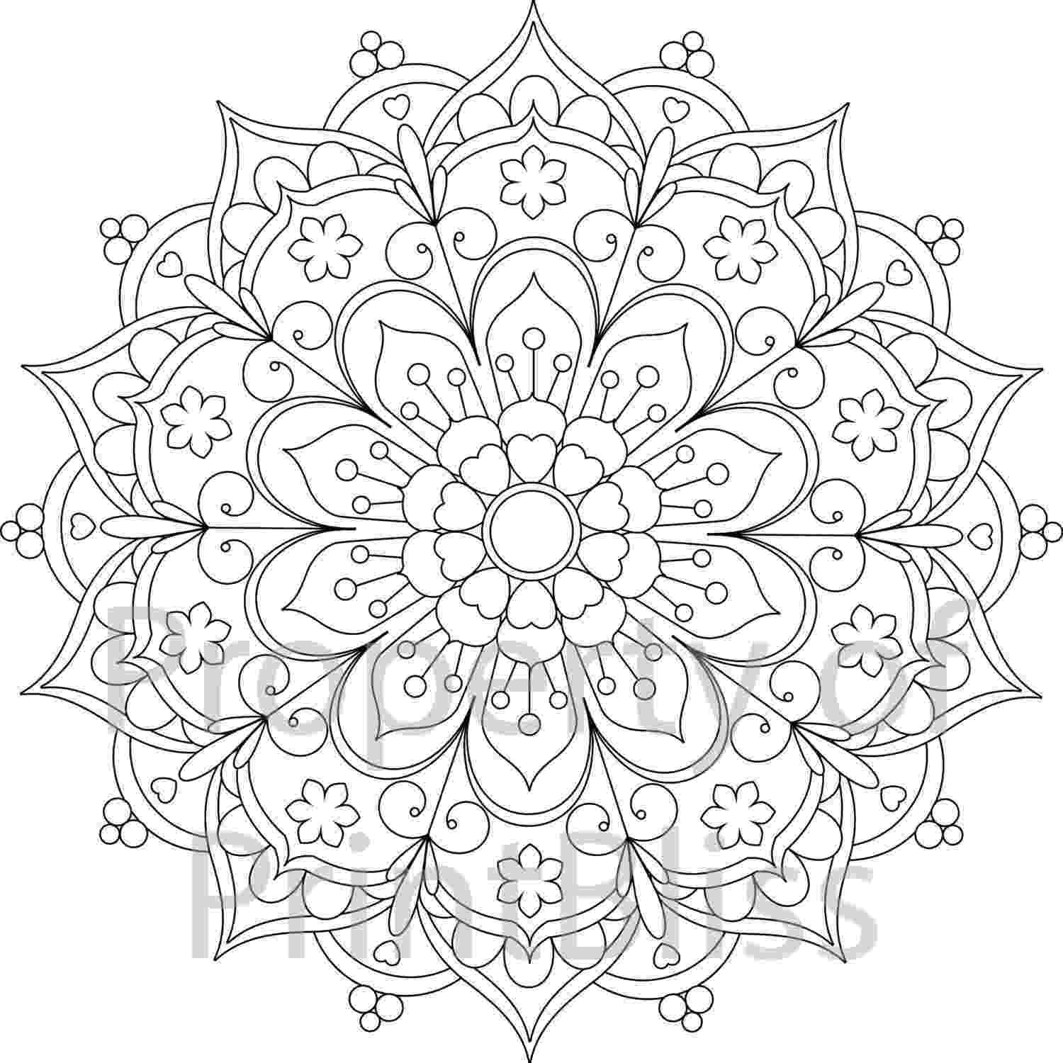 printable flower coloring pages for adults detailed flower coloring pages to download and print for free for printable coloring flower pages adults