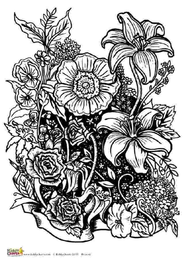 printable flower coloring pages for adults four free flower coloring pages for adults adults coloring for pages flower printable