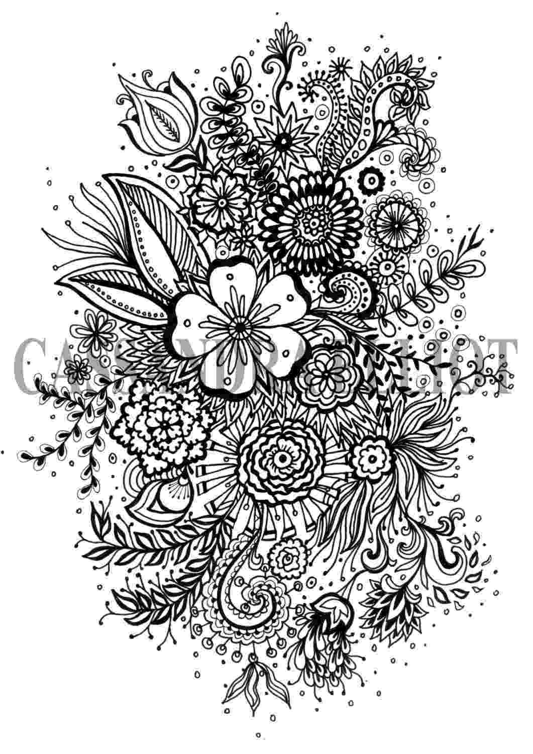 printable flower coloring pages for adults printable adult colouring page digital download print flower for adults flower coloring printable pages