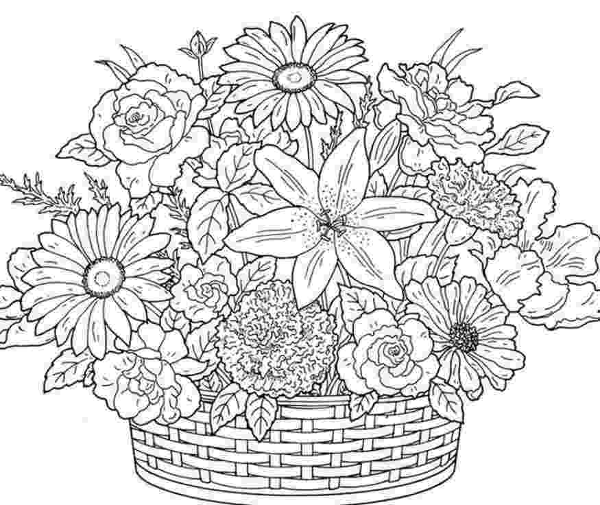 printable flower coloring pages for adults printable coloring pages for adults flowers coloring home flower coloring for pages adults printable