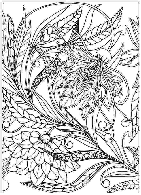 printable flower coloring pages for adults vintage flower coloring pages on behance adults flower pages coloring printable for