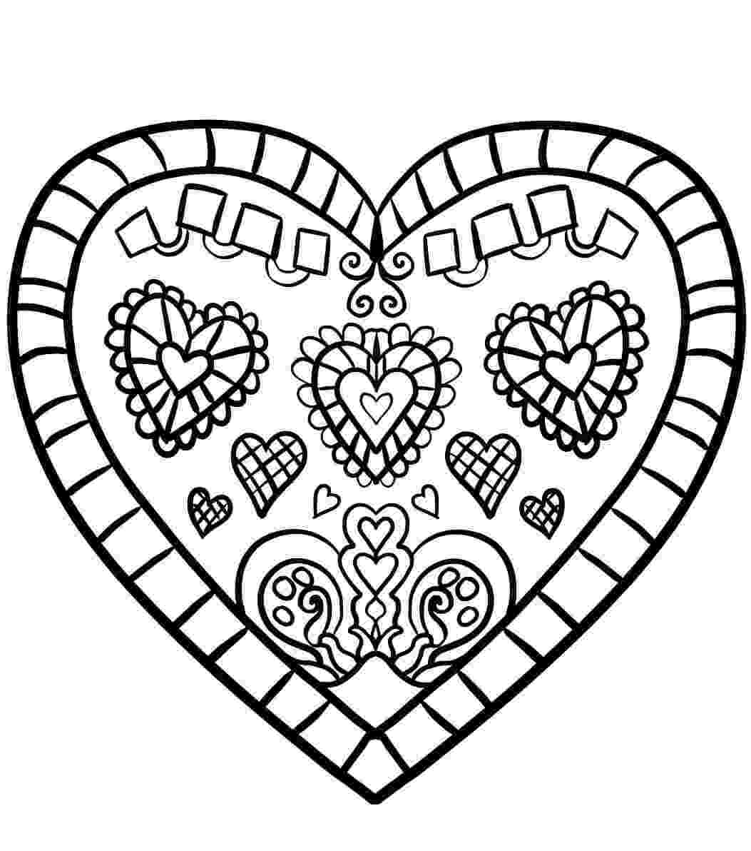 printable heart coloring pages free printable heart coloring pages for kids printable pages heart coloring