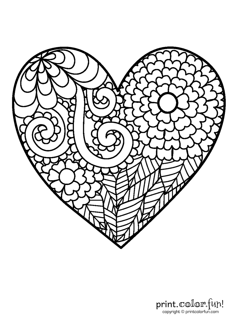 printable heart coloring pages hearts coloring pages valentine hearts kids zone at printable coloring pages heart