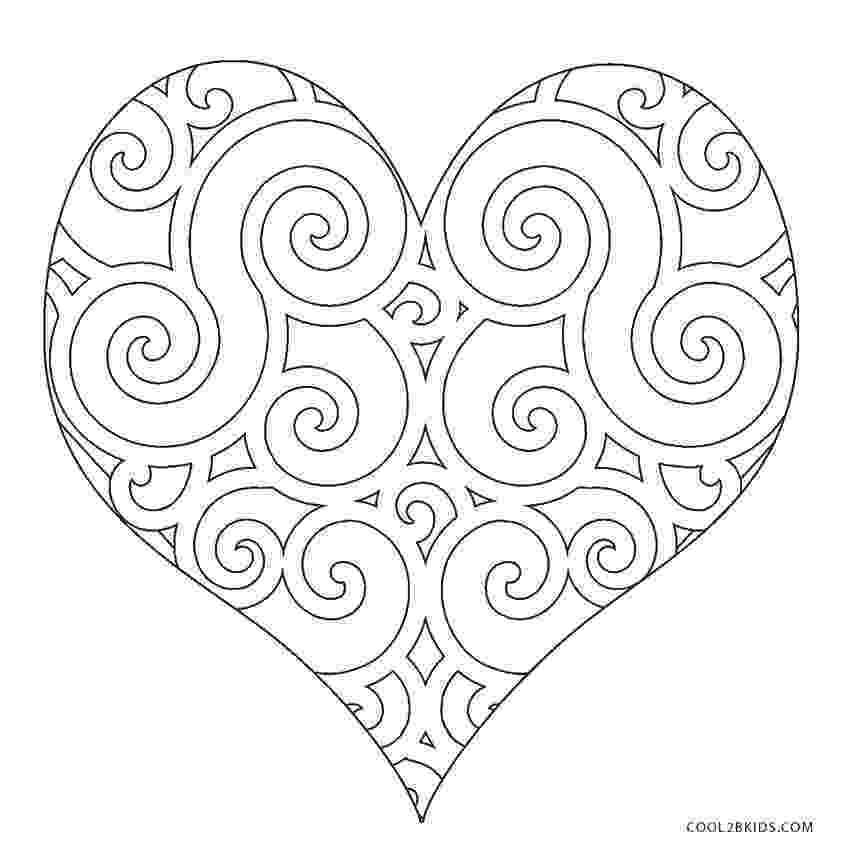 printable heart coloring pages valentine hearts coloring pages free heart printables pages coloring printable heart