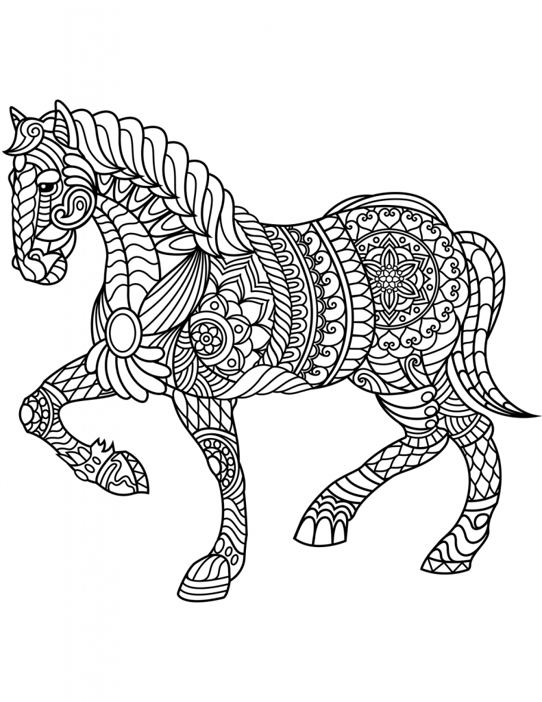 printable horse coloring pages for adults horse adult coloring page gift wall art mandala zentangle pages printable for horse coloring adults