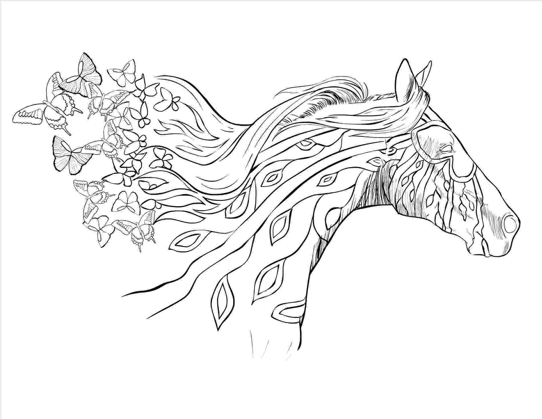 printable horse coloring pages for adults horse coloring page for adults adult coloring pages coloring horse for pages printable adults