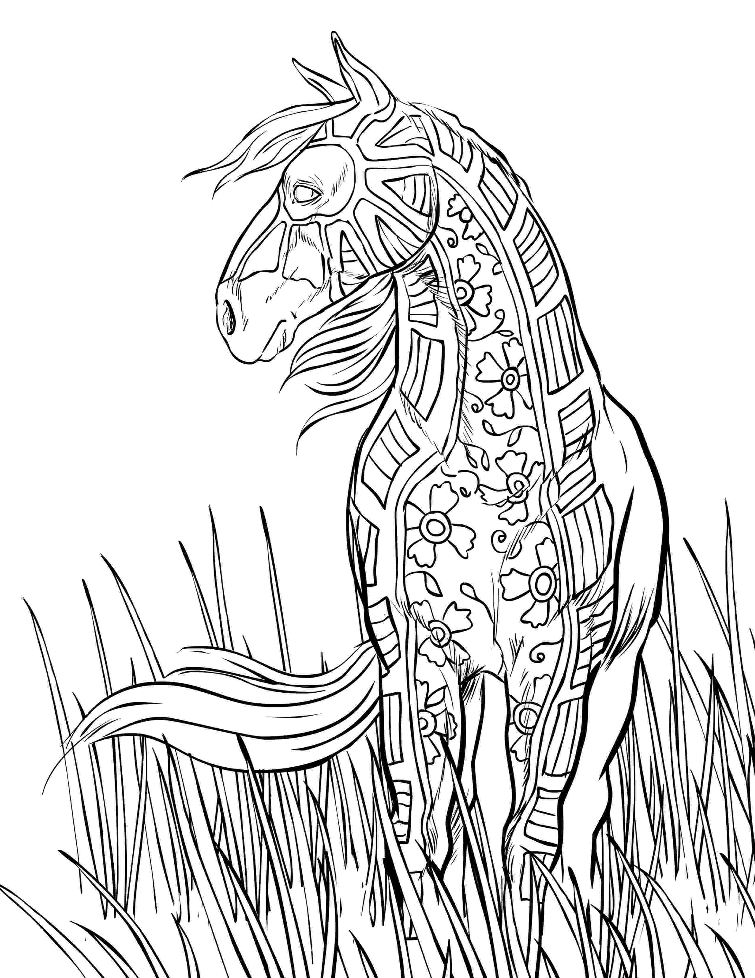 printable horse coloring pages for adults horse coloring pages for adults adult coloring pages horse adults pages coloring for printable