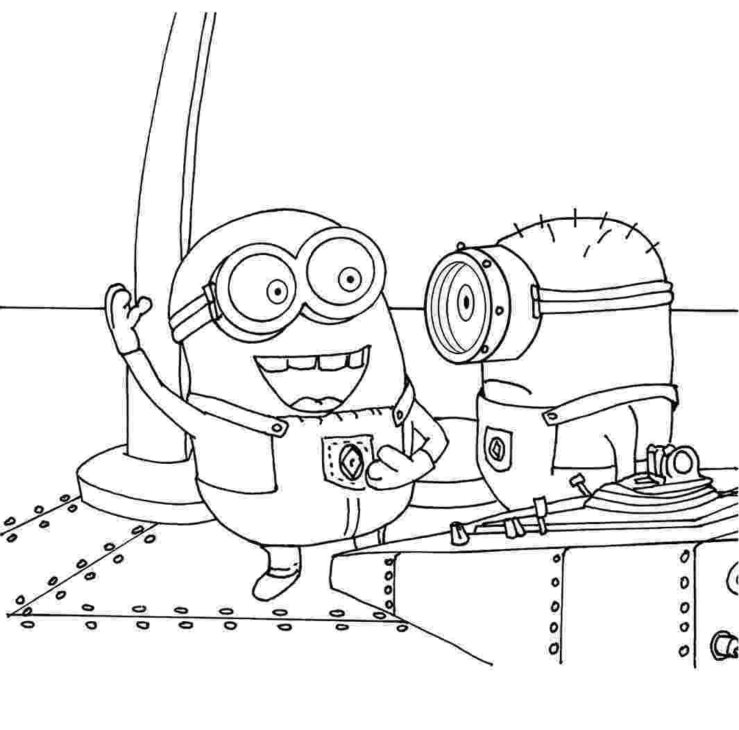 printable minions angry captain minion coloring page wecoloringpagecom minions printable
