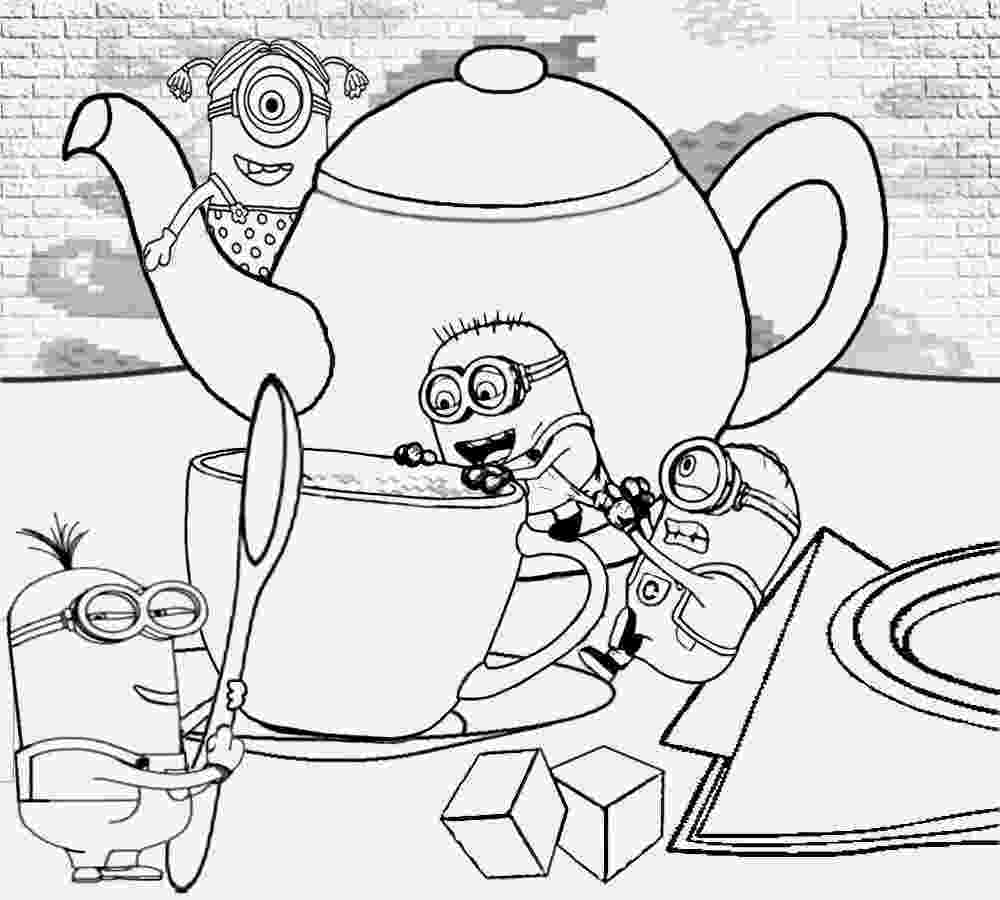 printable minions minion coloring pages only coloring pages printable minions