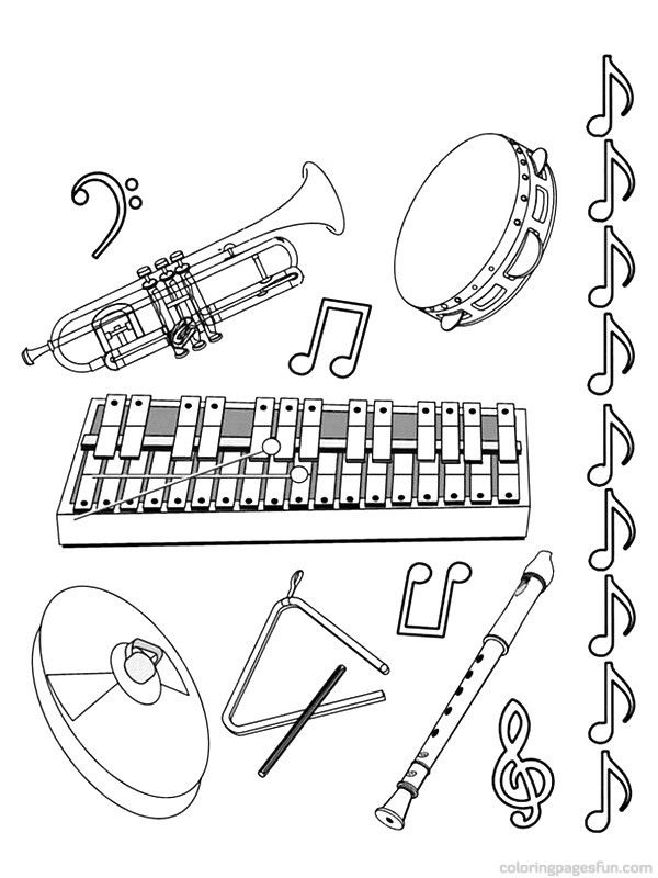 printable musical instruments musical instruments coloring pages 11 jazz pinterest musical printable instruments