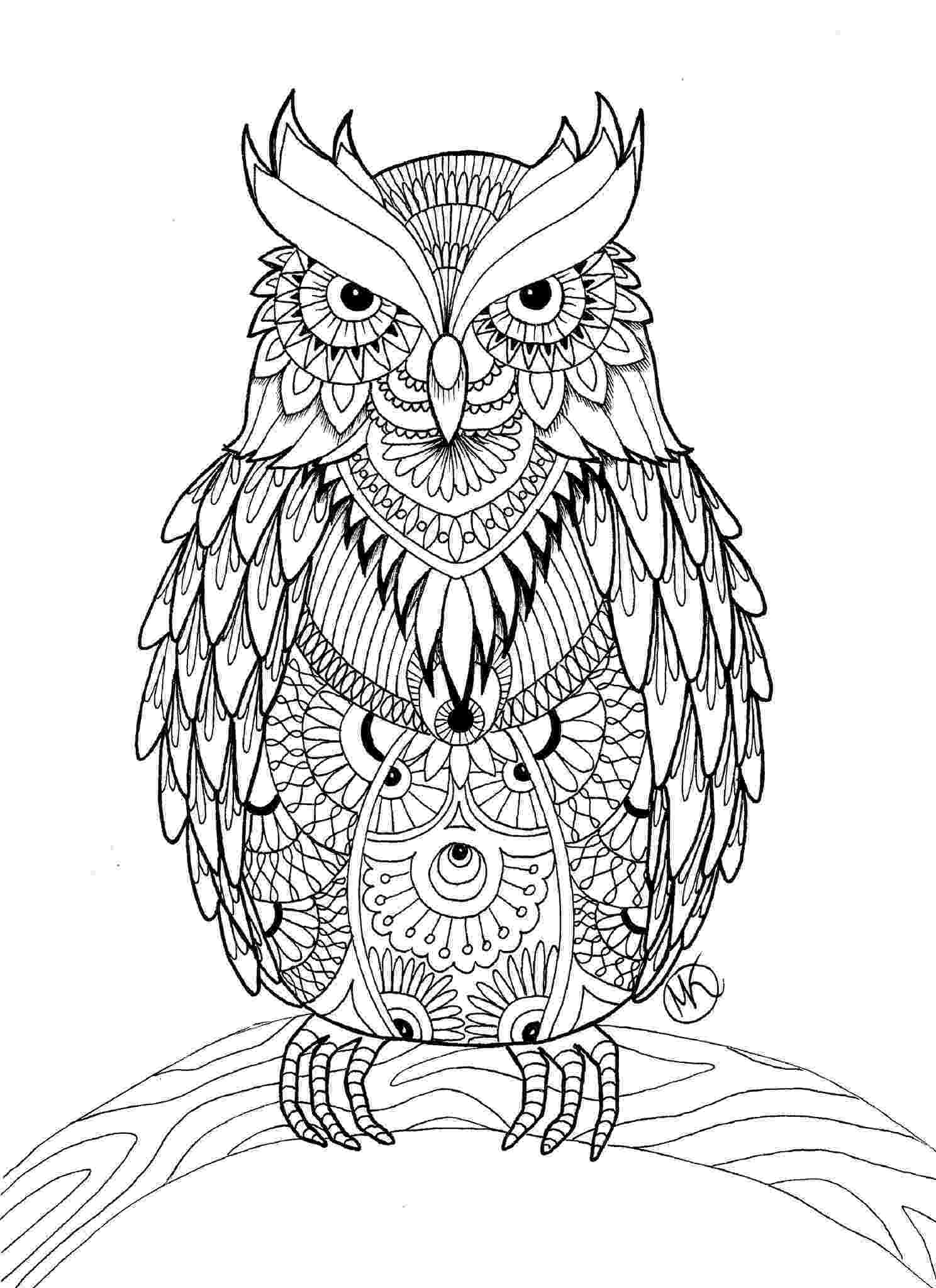 printable owls 10 difficult owl coloring page for adults owls printable