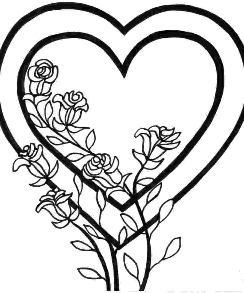 printable picture of a heart free printable heart coloring pages for kids of a picture heart printable