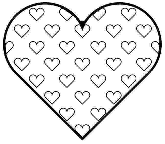 printable picture of a heart free printable heart coloring pages for kids of heart picture a printable