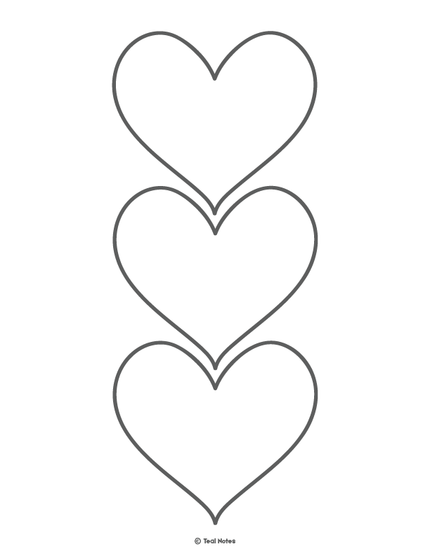 printable picture of a heart pin on heart template heart of printable picture a