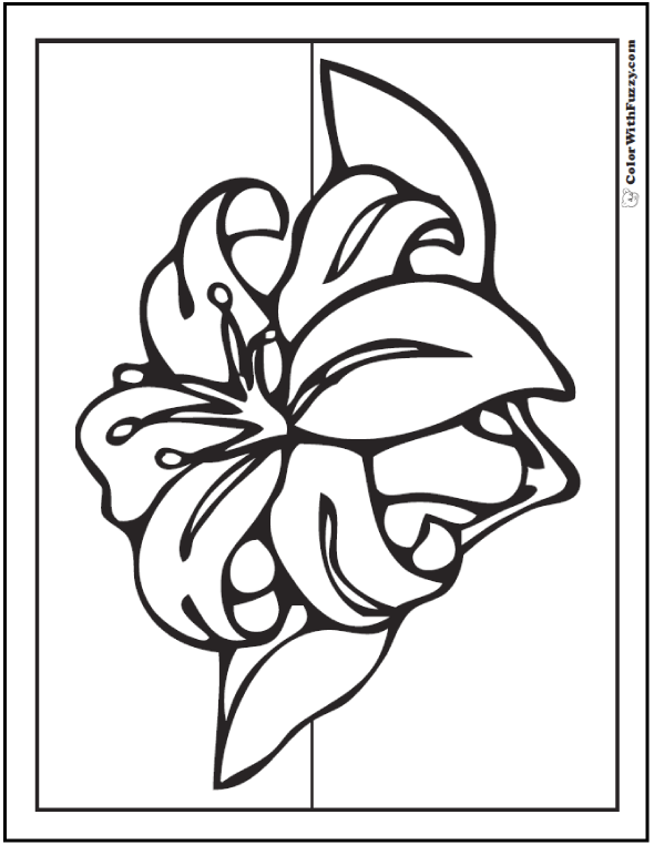 printable pictures of lilies coloring pages lily 4 natural world gt flowers free printable pictures of lilies