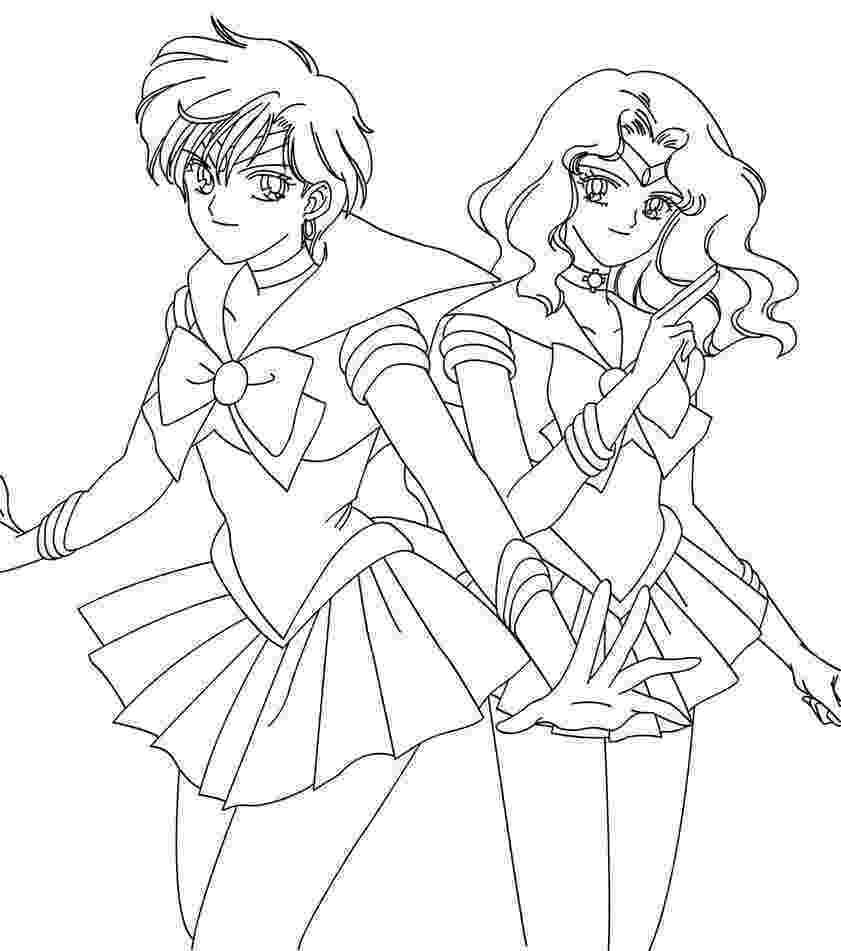 printable pictures of neptune sailormoon coloring pages coloring pages sailor moon neptune of pictures printable