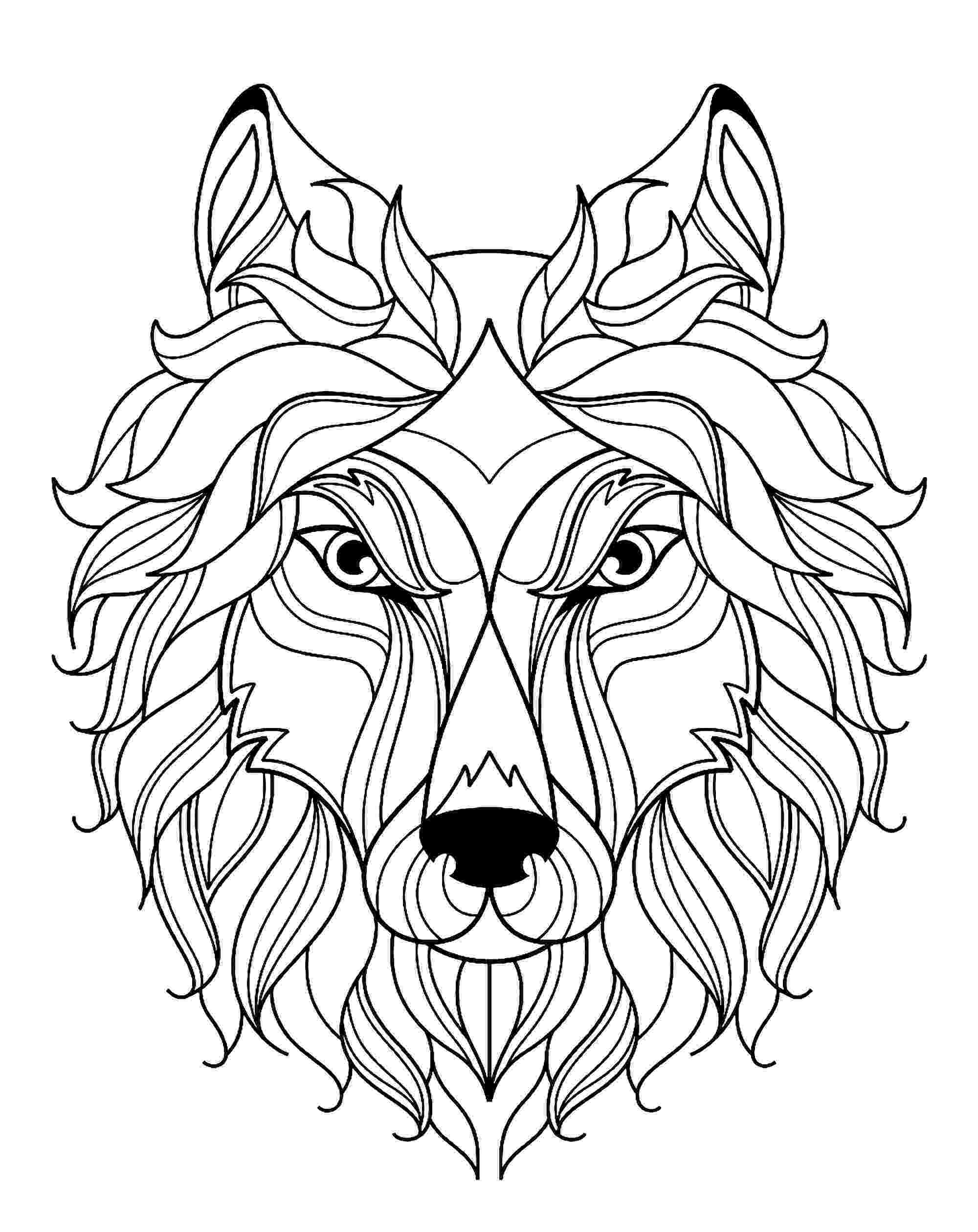 printable pictures of wolves free printable coloring pages for adults more free wolves of pictures printable