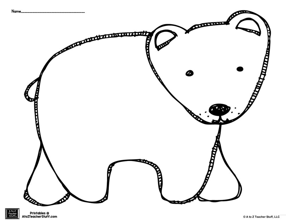 printable polar bear brown bear or polar bear outline coloring page a to z polar bear printable