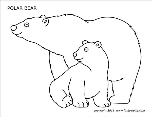 printable polar bear get this free printable polar bear coloring pages for kids polar bear printable