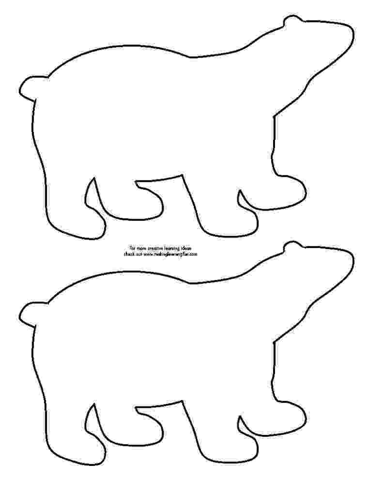 printable polar bear polar bear template bear crafts animal templates bear printable polar bear