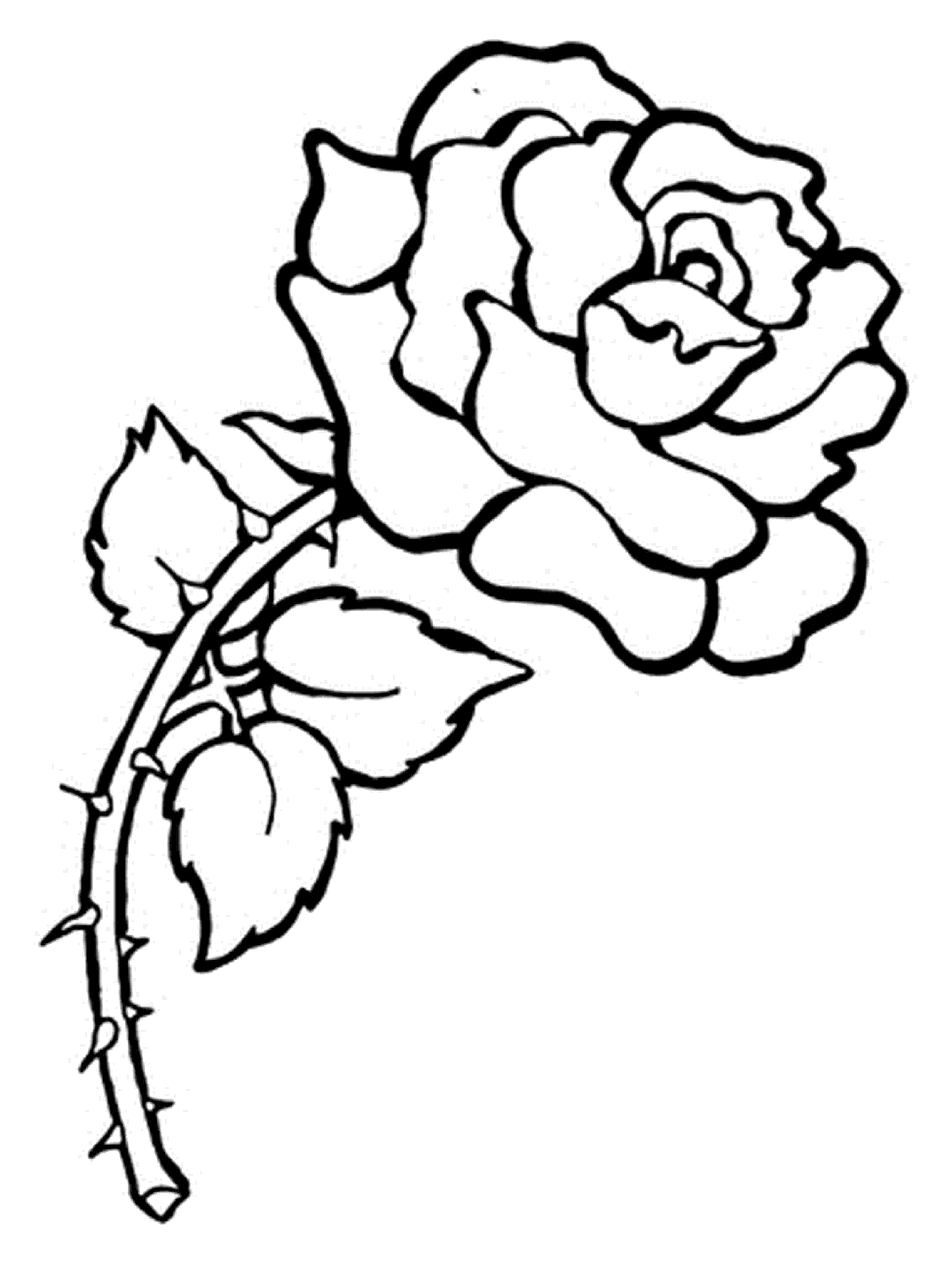 printable roses free printable roses coloring pages for kids printable roses 1 2