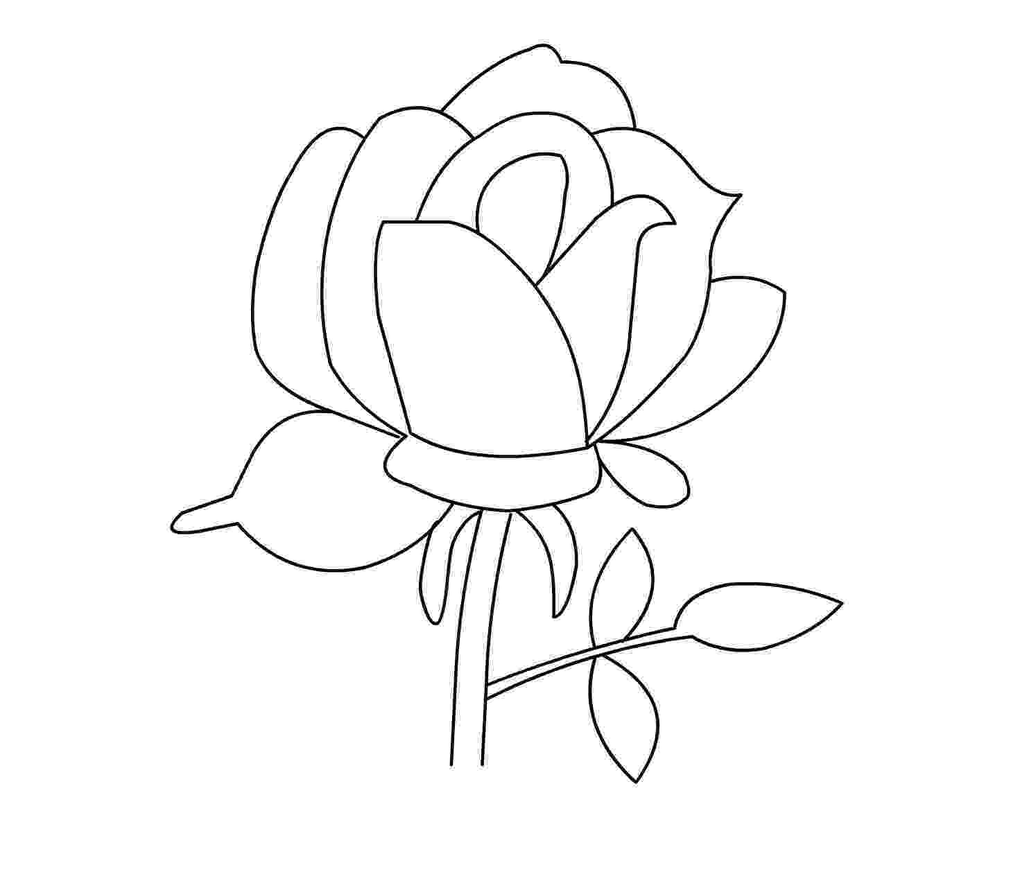 printable roses printable rose coloring pages for everyone rose coloring printable roses