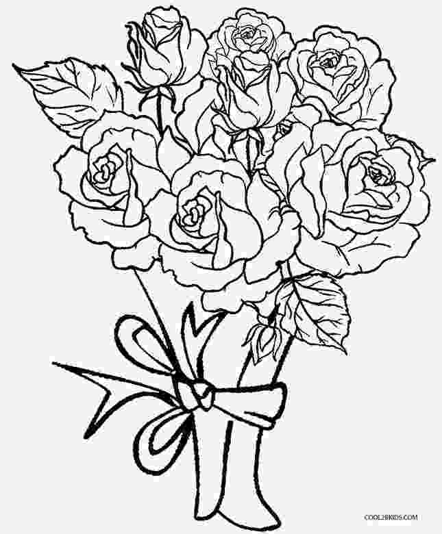 printable roses printable rose coloring pages for kids cool2bkids roses printable