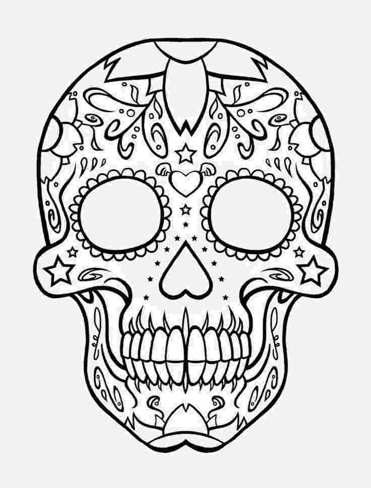 printable skull coloring pages printable skulls coloring pages for kids cool2bkids skull printable pages coloring