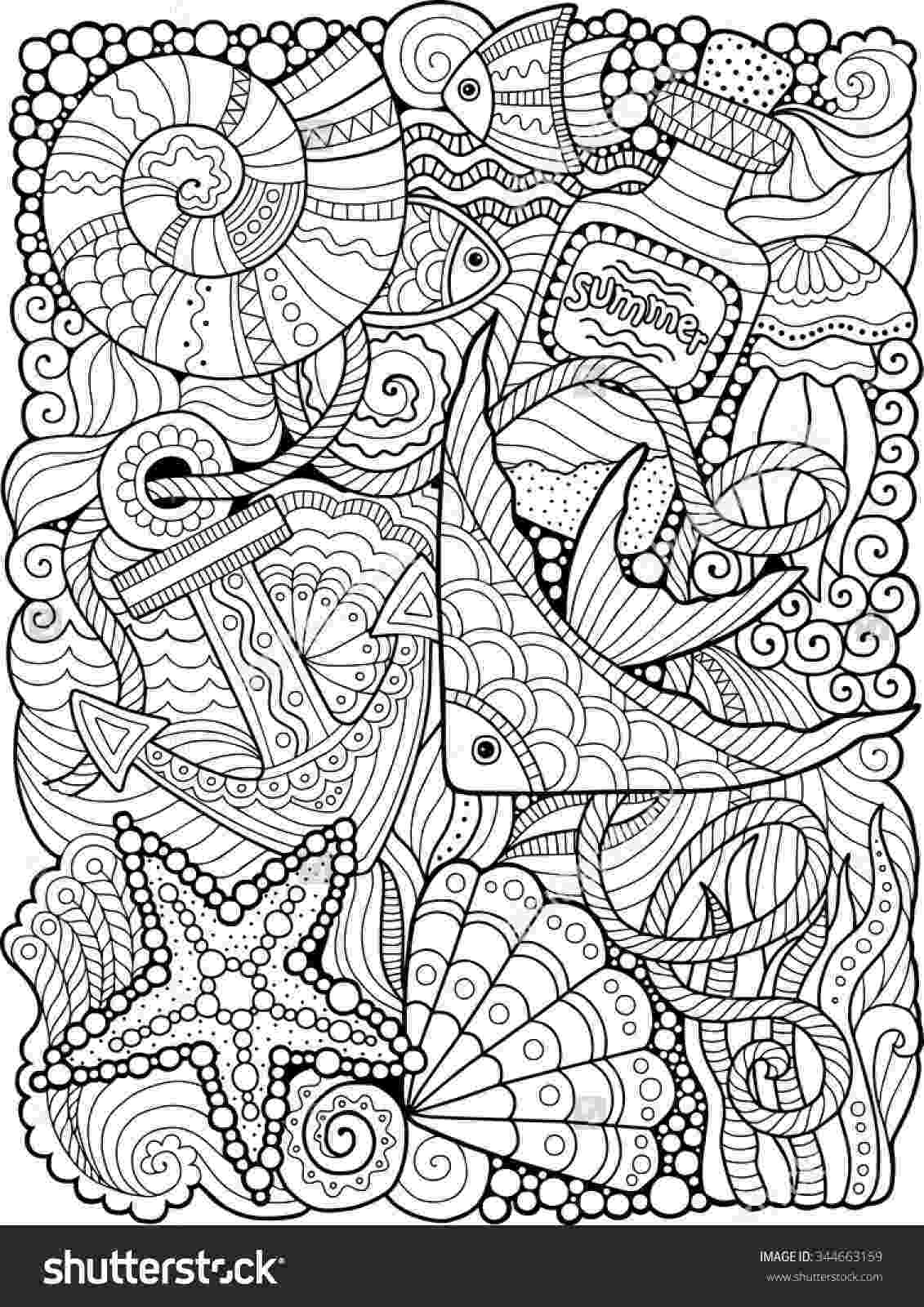 printable summer coloring pages for adults summer day printable adult coloring page from favoreads etsy printable for summer coloring pages adults
