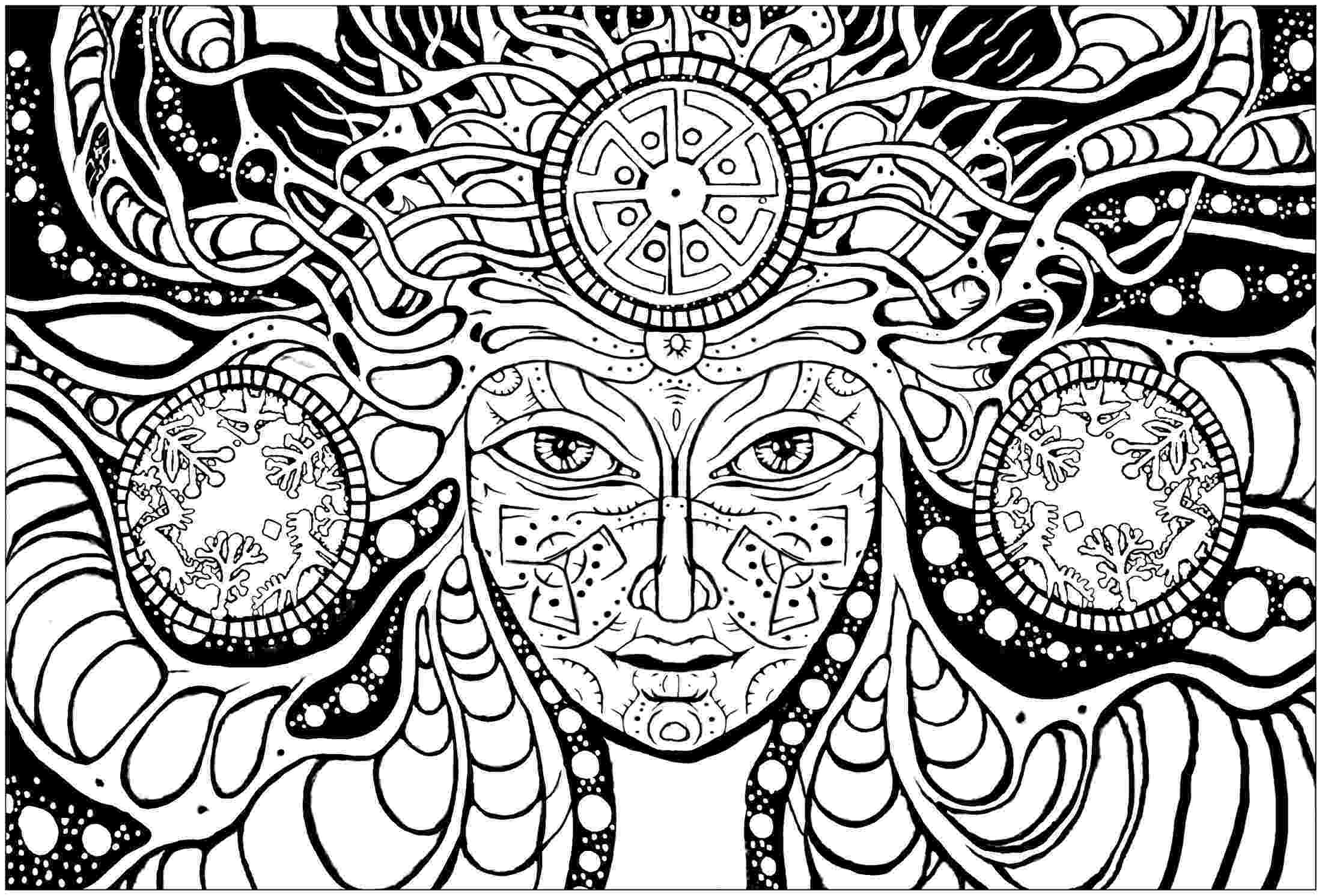 psychedelic colouring pages psychedelic coloring pages to download and print for free colouring psychedelic pages 1 1