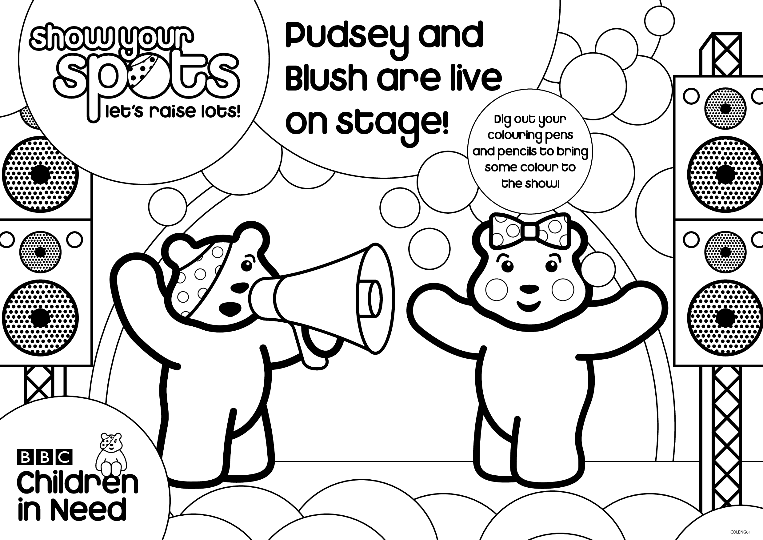 pudsey colouring pages pudsey and blush are live on stage by liaoqinmei free pages colouring pudsey