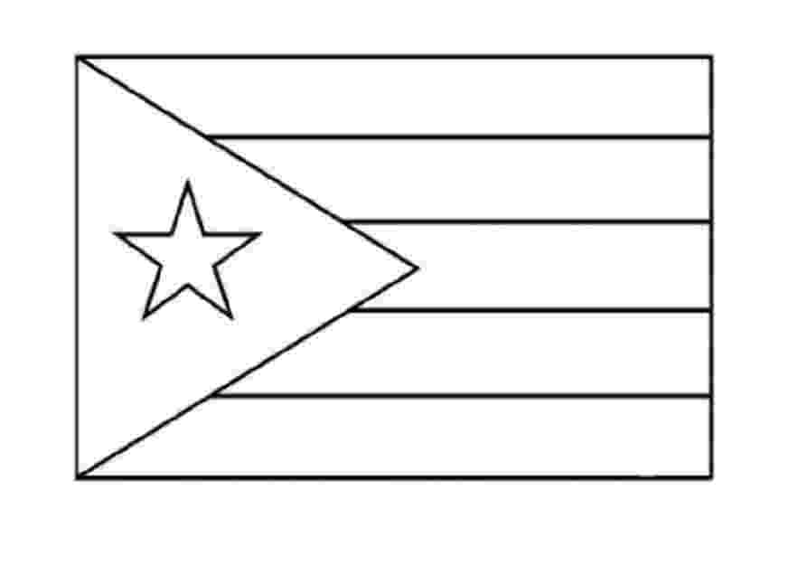puerto rico flag to color nation coloring pages part 4 flag to puerto color rico