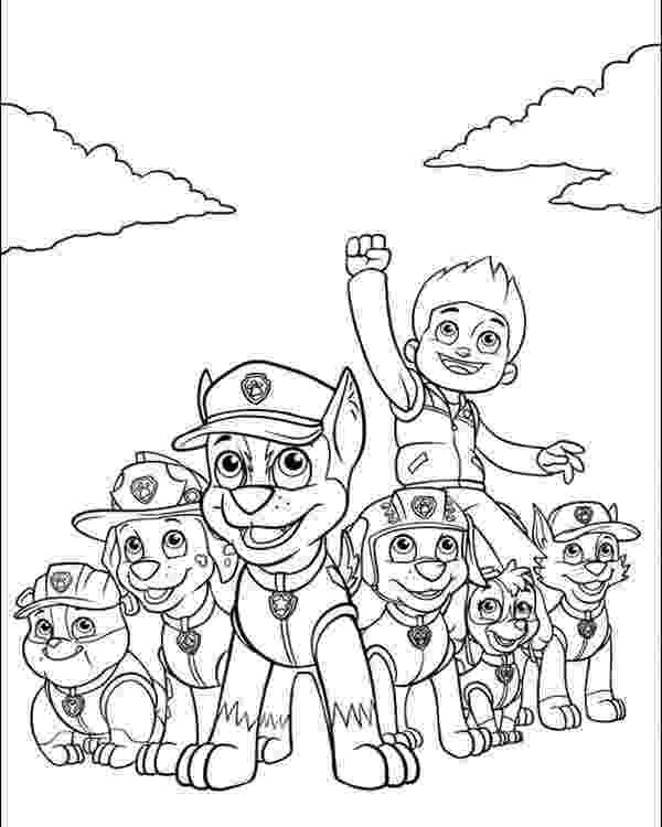 pup patrol coloring pages free printable paw patrol coloring pages for kids patrol pup pages coloring