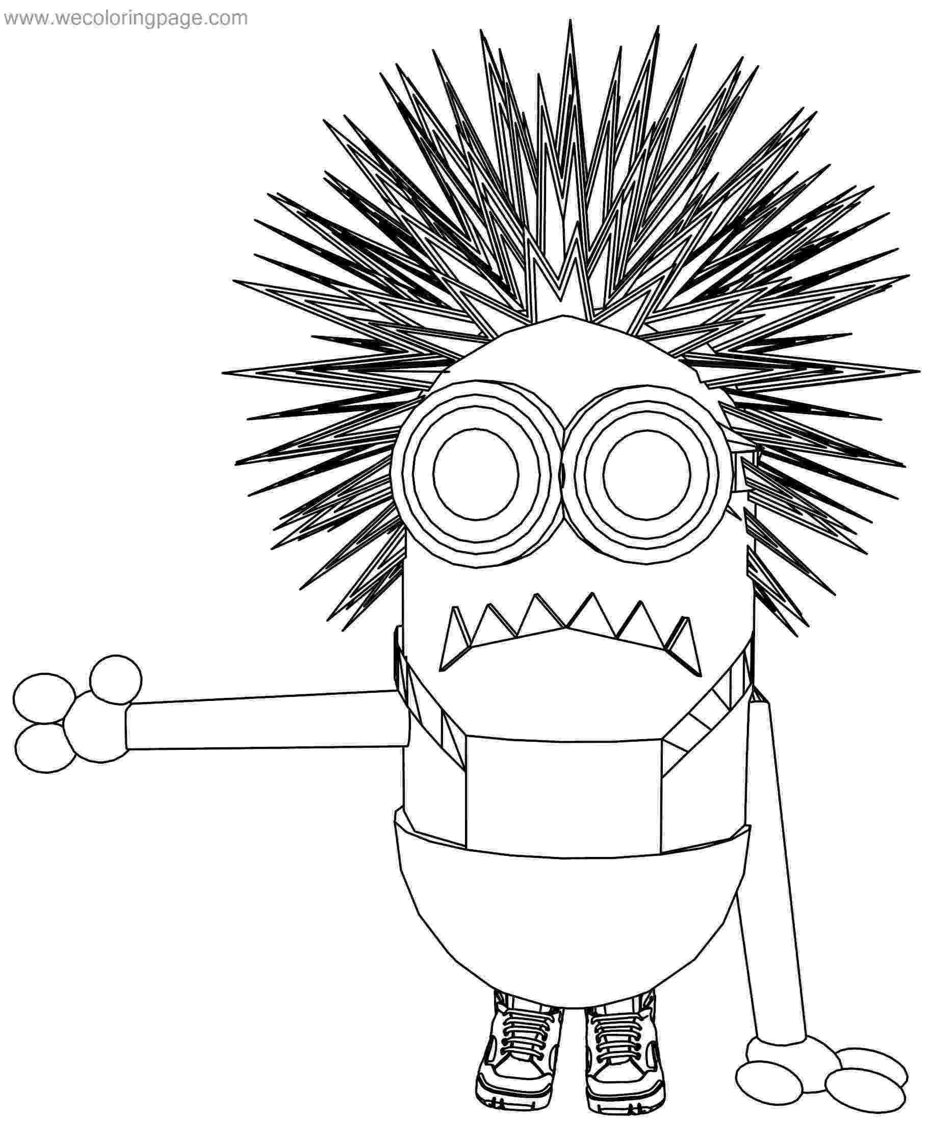 purple minion coloring page purple minion drawing at getdrawingscom free for minion purple page coloring