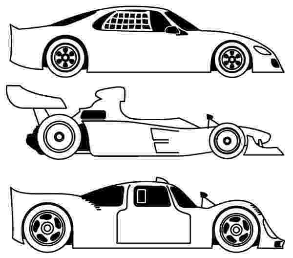 racecar coloring page three different race car coloring page free printable coloring page racecar
