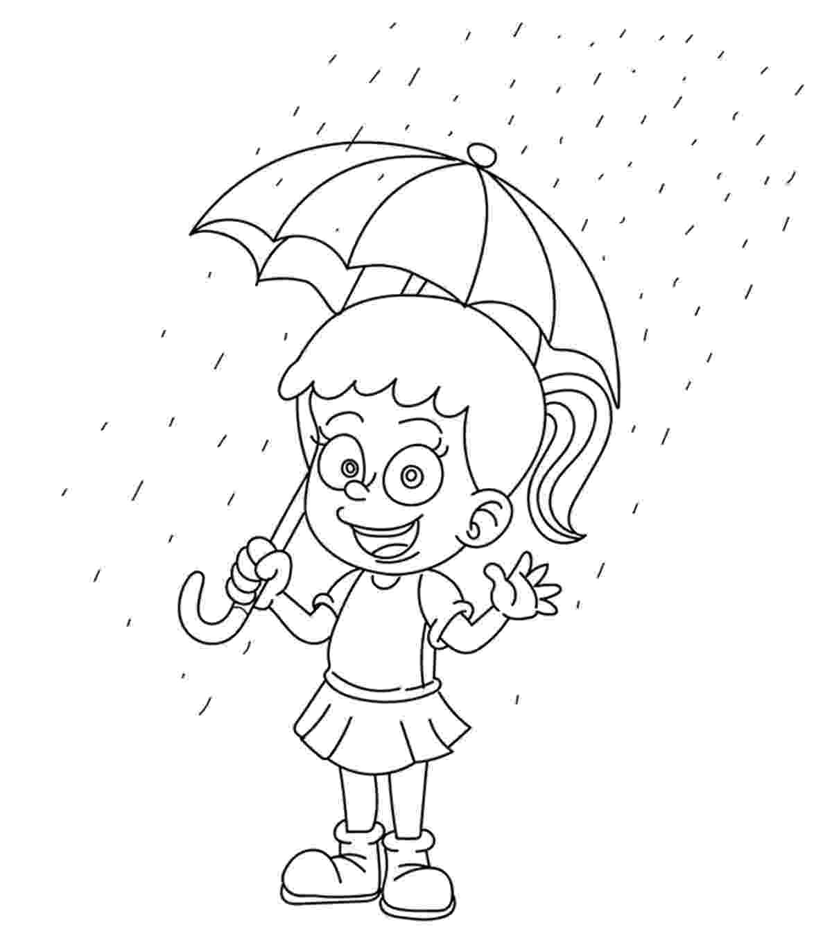 rain coloring page rainy day coloring pages free coloring home coloring page rain